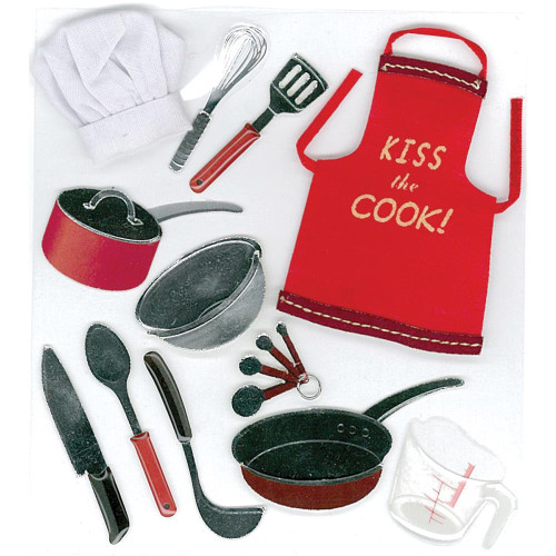 Jolee's Boutique Dimensional Stickers: Cooking