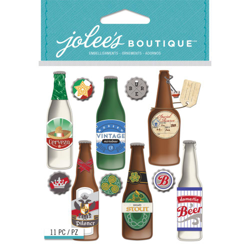 Jolee's Boutique Dimensional Stickers: Beer Bottle Domes