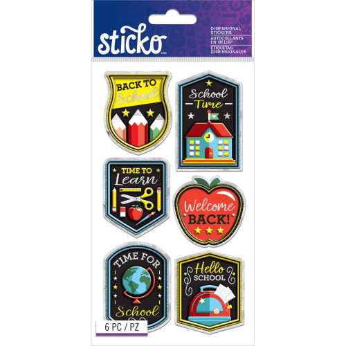 Sticko Dimensional Stickers: Back To School