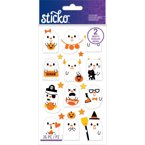 Sticko Flat Stickers: Ghost Party