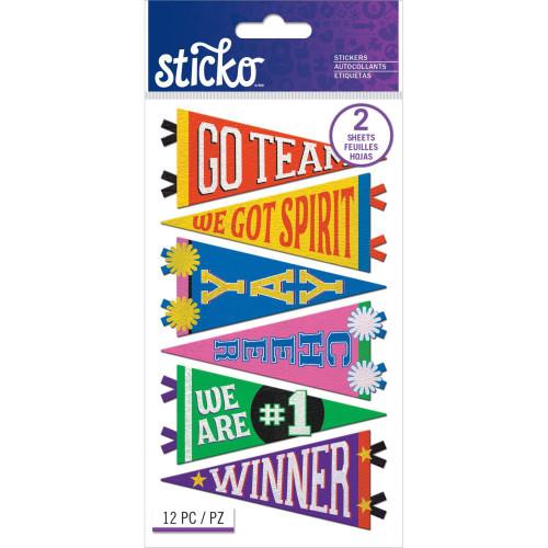 Sticko Flat Stickers: Trendy School Pennants