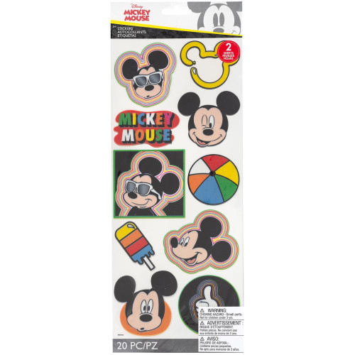Disney Stickers: Mickey Head Badges Large