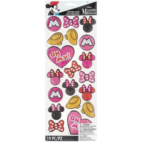 Disney Dimensional Stickers: Minnie Faux Sequins