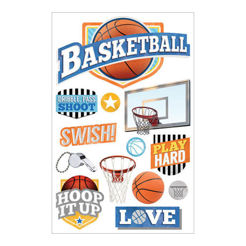 Paper House 3D Sticker: Basketball Swish
