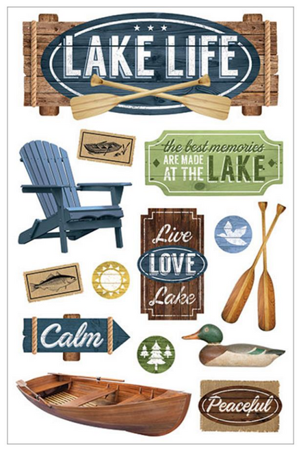 Paper House 3D Sticker: Lake Life