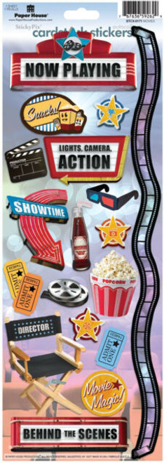 Paper House Cardstock Sticker: Movies