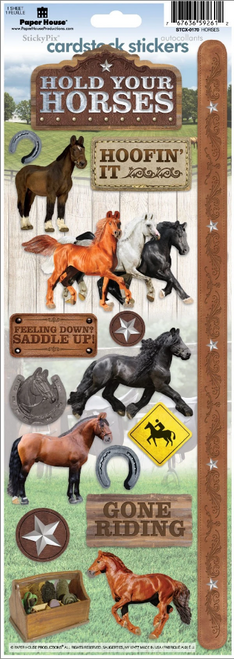 Paper House Cardstock Sticker: Hold Your Horses