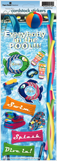 Paper House Cardstock Sticker: Pool