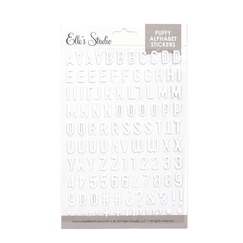 Elle's Studio Puffy Alphabet Stickers: White