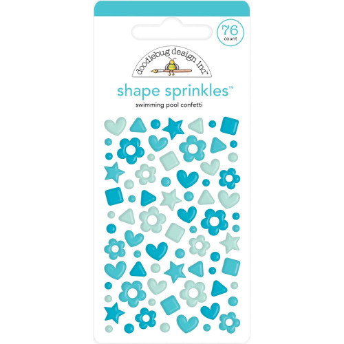 Doodlebug Shape Sprinkles: Swimming Pool Confetti