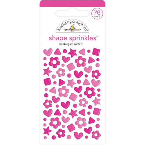 Doodlebug Shape Sprinkles: Bubblegum Confetti