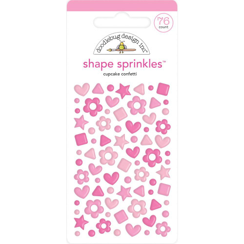 Doodlebug Shape Sprinkles: Cupcake Confetti