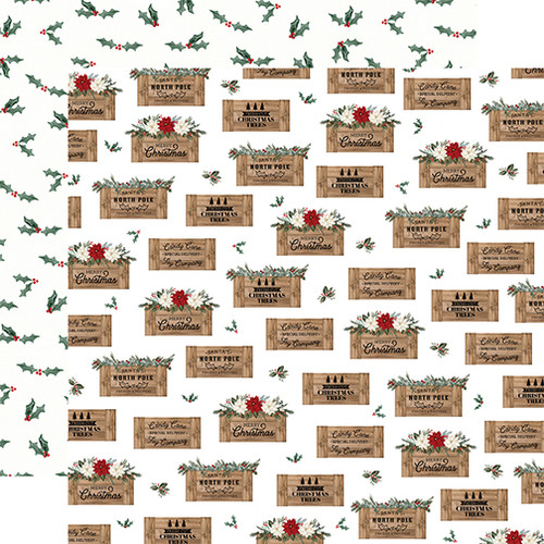 Carta Bella Farmhouse Christmas 12x12 Paper: Crates