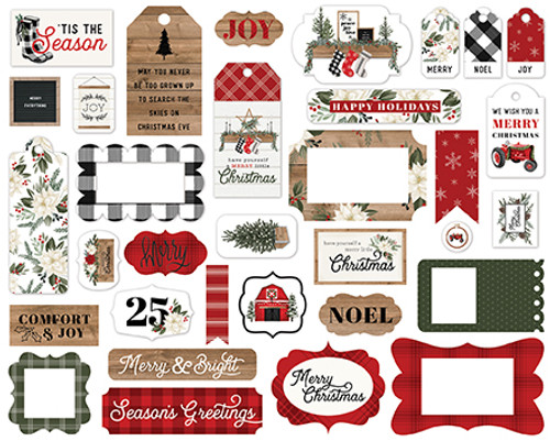 Carta Bella Farmhouse Christmas Frames & Tags