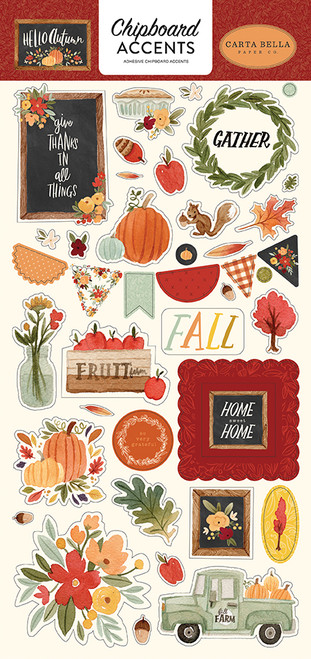 Carta Bella Hello Autumn 6x13 Chipboard Accents