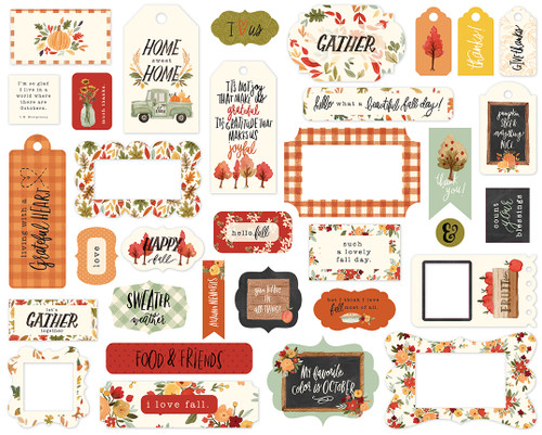 Carta Bella Hello Autumn Frames & Tags