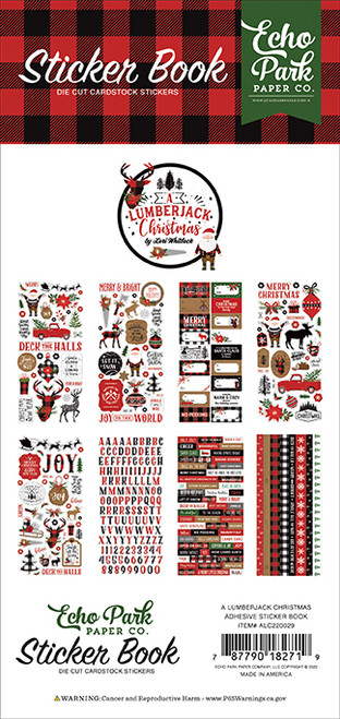 Echo Park A Lumberjack Christmas Sticker Book