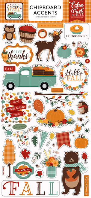 Echo Park Happy Fall 6x13 Chipboard Accents