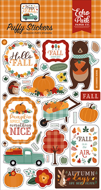 Echo Park Happy Fall Puffy Stickers