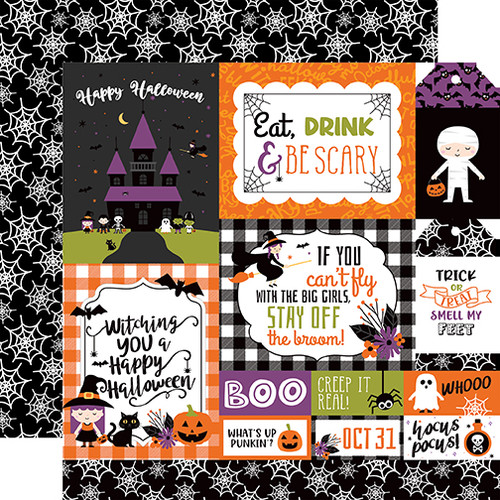 Echo Park I Love Halloween 12x12 Paper: Multi Journaling Cards