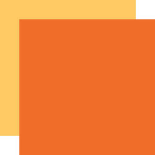 Echo Park I Love Halloween 12x12 Paper: Dk. Orange / Yellow (Coordinating Solid)