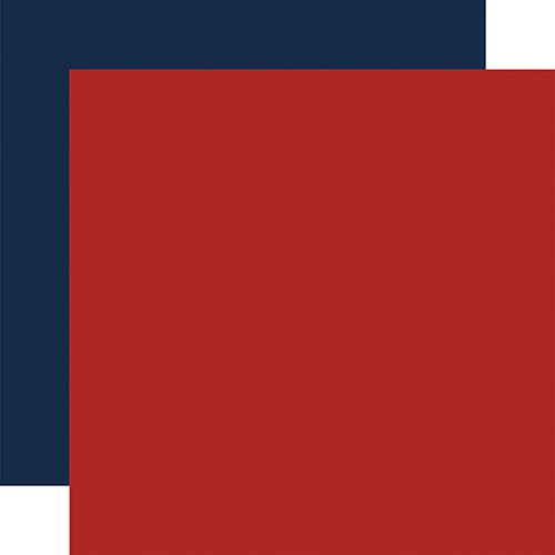 Echo Park Silent Night 12x12 Paper: Red / Navy (Coordinating Solid)