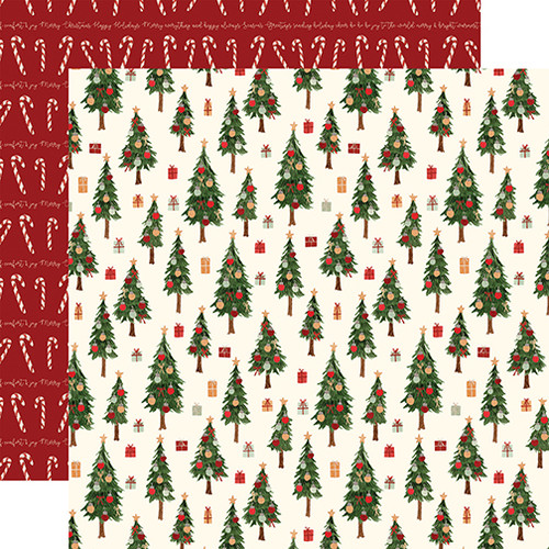Carta Bella Hello Christmas 12x12 Paper: Merry Trees