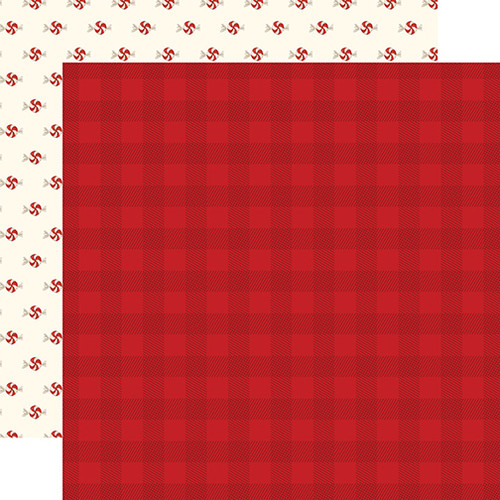 Carta Bella Hello Christmas 12x12 Paper: Red Plaid