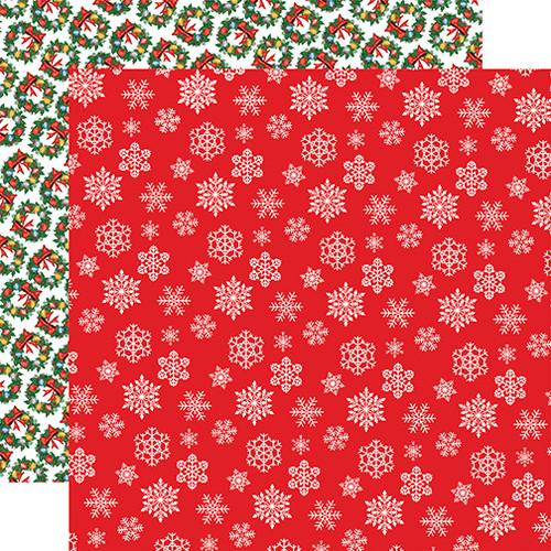 Carta Bella Dear Santa 12x12 Paper: Snowflakes