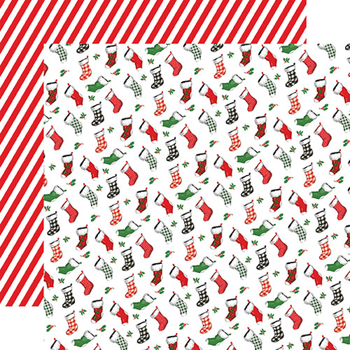 Carta Bella Dear Santa 12x12 Paper: Stockings