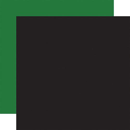 Carta Bella Dear Santa 12x12 Paper: Black / Green (Coordinating Solid)