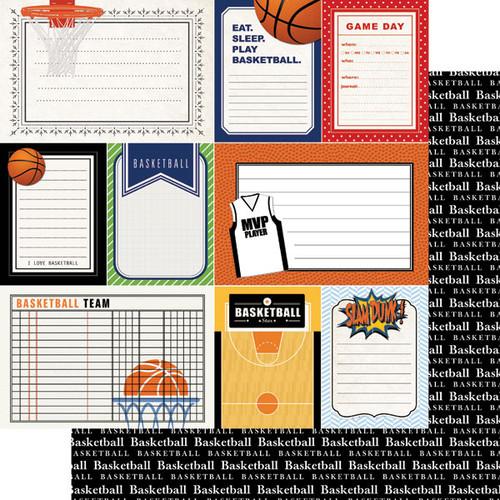 Scrapbook Customs Sports Journal 12x12 Paper: Basketball
