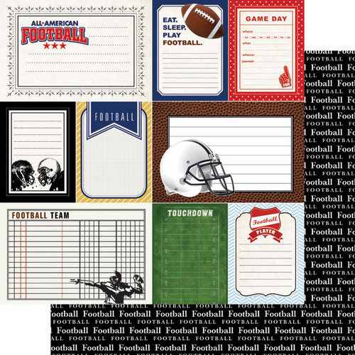 Scrapbook Customs Sports Journal 12x12 Paper: Football
