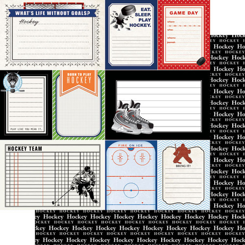 Scrapbook Customs Sports Journal 12x12 Paper: Hockey