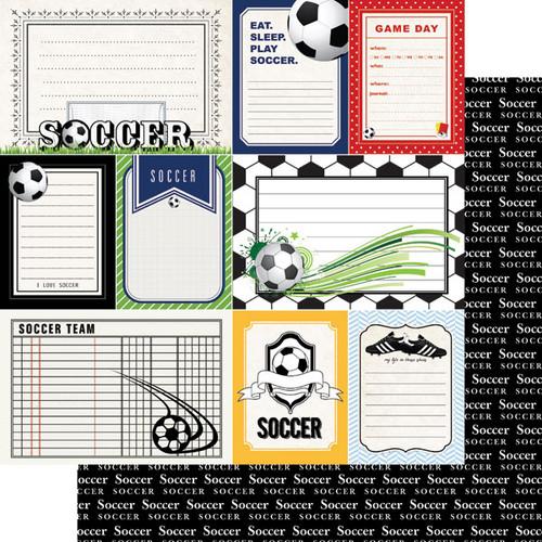 Scrapbook Customs Sports Journal 12x12 Paper: Soccer