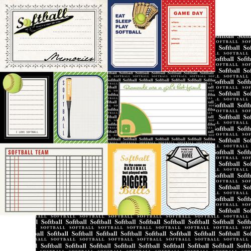 Scrapbook Customs Sports Journal 12x12 Paper: Softball