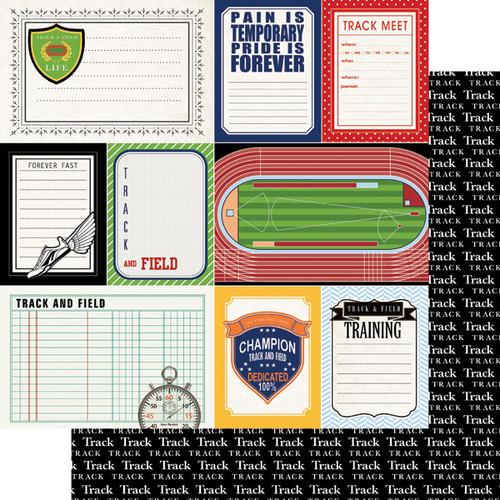 Scrapbook Customs 12x12 Sports Themed Paper: Sports Journal - Track & Field