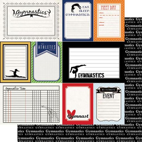 Scrapbook Customs Sports Journal 12x12 Paper: Gymnastics
