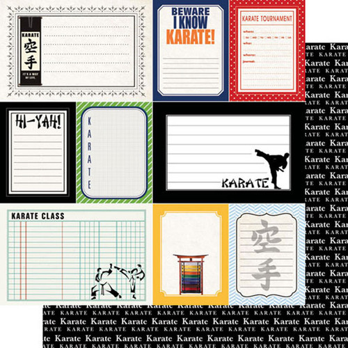 Scrapbook Customs Sports Journal 12x12 Paper: Karate