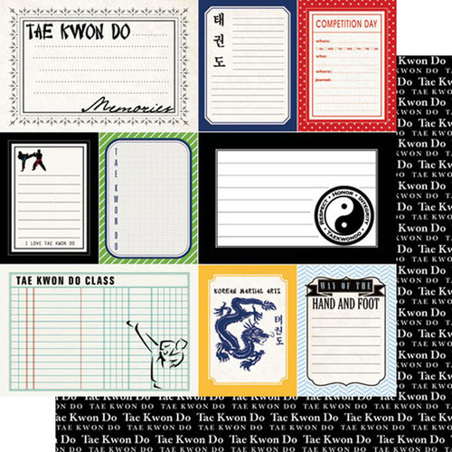 Scrapbook Customs Sports Journal 12x12 Paper: Tae Kwon Do
