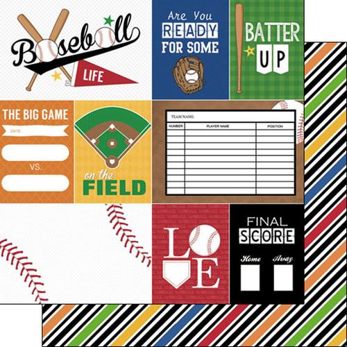 Scrapbook Customs Sports Life 12x12 Paper: Baseball 1