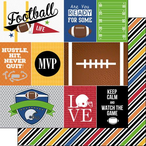 Scrapbook Customs Sports Life 12x12 Paper: Football 1