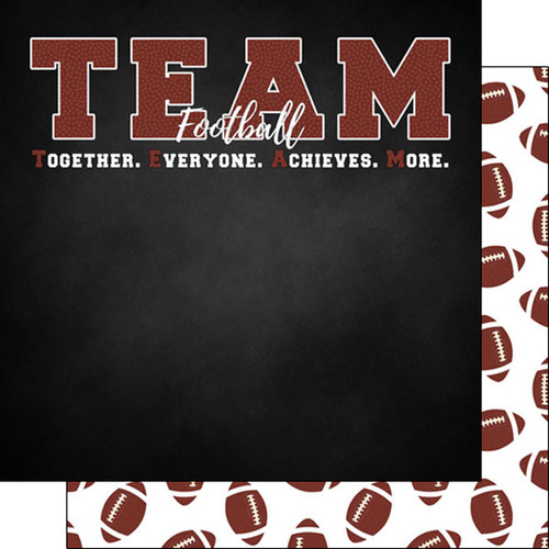 Scrapbook Customs 12x12 Sports Themed Paper: Neon - Football