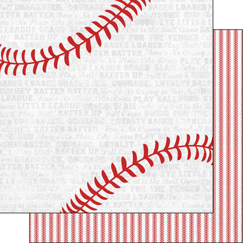 Scrapbook Customs 12x12 Sports Themed Paper: Sports Addict - Baseball