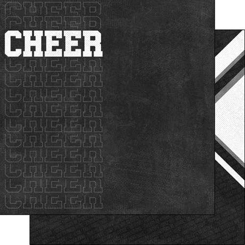 Scrapbook Customs Sports Addict 12x12 Paper: Cheerleading