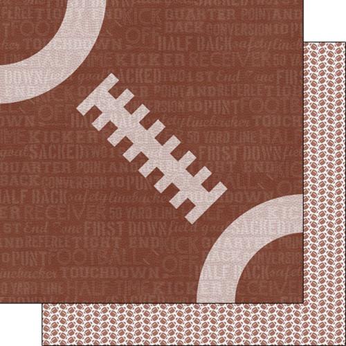 Scrapbook Customs 12x12 Sports Themed Paper: Sports Addict - Football 2