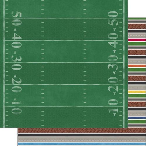 Scrapbook Customs 12x12 Sports Themed Paper: Sports Addict - Football 3