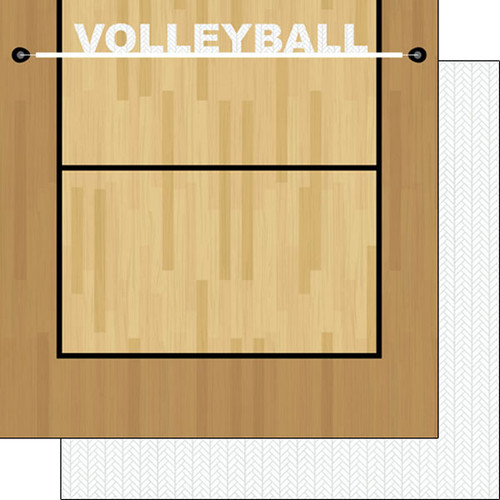 Scrapbook Customs Sports Addict 12x12 Paper: Volleyball 3