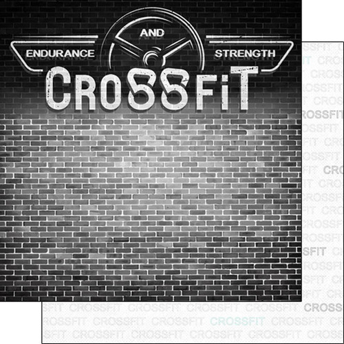 Scrapbook Customs 12x12 Sports Themed Paper: Sports Addict - Crossfit