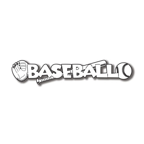 Scrapbook Customs Laser Cut Title: Baseball C